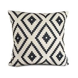 Elviros Kissen dekorativ Mix aus Baumwolle und Leinen 45x45cm