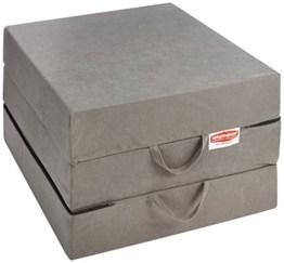 Gigapur 25069 Visco Luxus Klappmatratze in grau komfortable Schaumstoff Faltmatratze