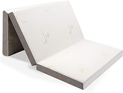 Milliard Visco Gästematratze, Klappmatratze de Luxe 10 cm Dicke Schaumstoff, Faltmatratze mit Abnehmbarem und Waschbar Husse, 90 x 190