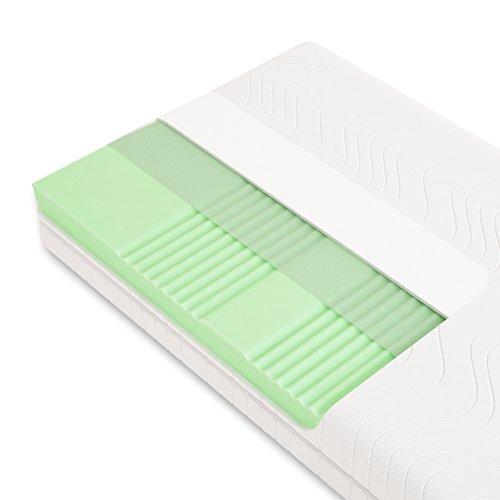 Schlummerparadies® hochwertige Matratze 7-Zonen HR-Kaltschaummatratze - Made in Germany - ca. 19cm Gesamthöhe, RG40, geprüfter Kern + Bezug - Optima Klassik (90x200cm, H2)