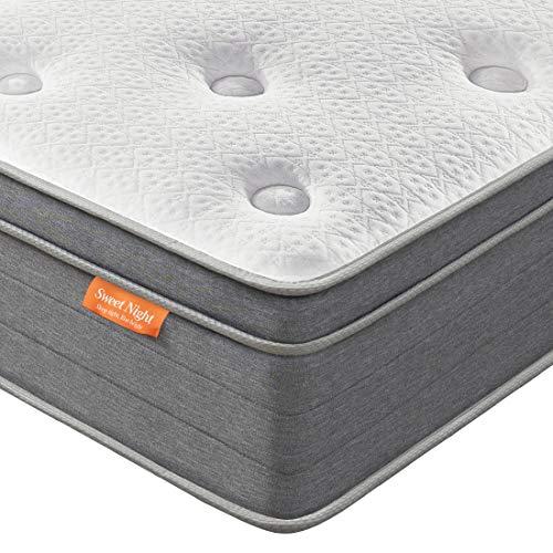 Sweetnight Matratze 90x200 Federkernmatratze Höhe 20 cm mit exzellenter Punktelastizität in den Härtegrad h4 (90 x 200 x 20 cm)